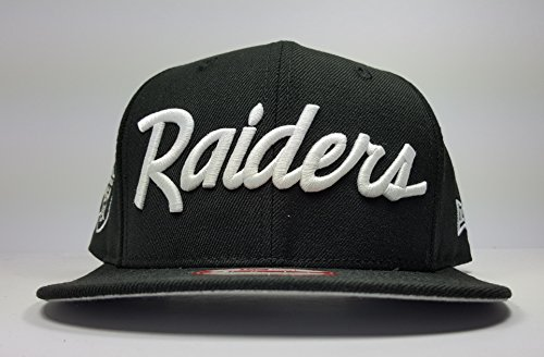 New Era Los Angeles Raiders 9Fifty Black and White Vintage Script N.W.A Adjustable Snapback Hat NFL