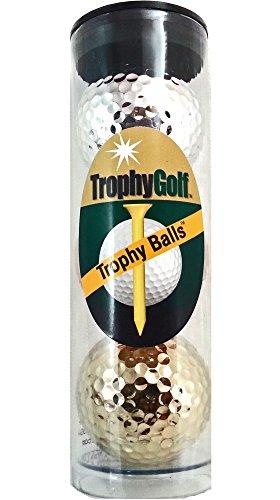 TROPHYGOLF 3 Olympic Colored Golf Balls, Gold/Silver/Bronze Gold Golf Ball