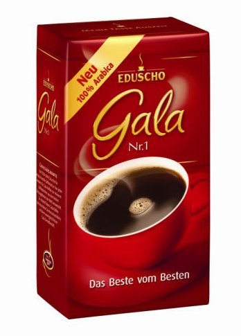 2 Packs Eduscho Gala Nr. 1 Ground Coffee 17.6oz/500g ()