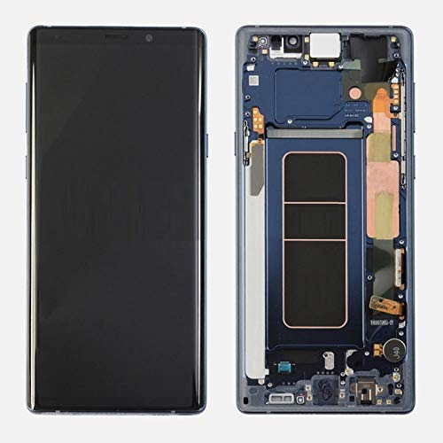 ePartSolution_ LCD Display Touch Screen Digitizer Glass + Frame Assembly for Samsung Galaxy Note 9 N960 Replacement Part USA (Blue)