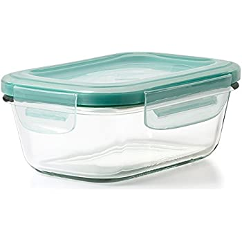 OXO Good Grips 1.6 Cup SNAP Leakproof Glass Rectangle Food Storage Container
