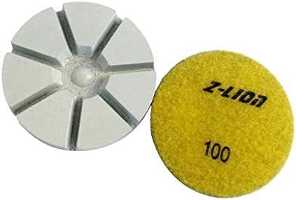 Almencla 3インチ ドライダイヤモンド 研磨パッド 10mm厚 大理石 粉砕機ため - 100#黄色