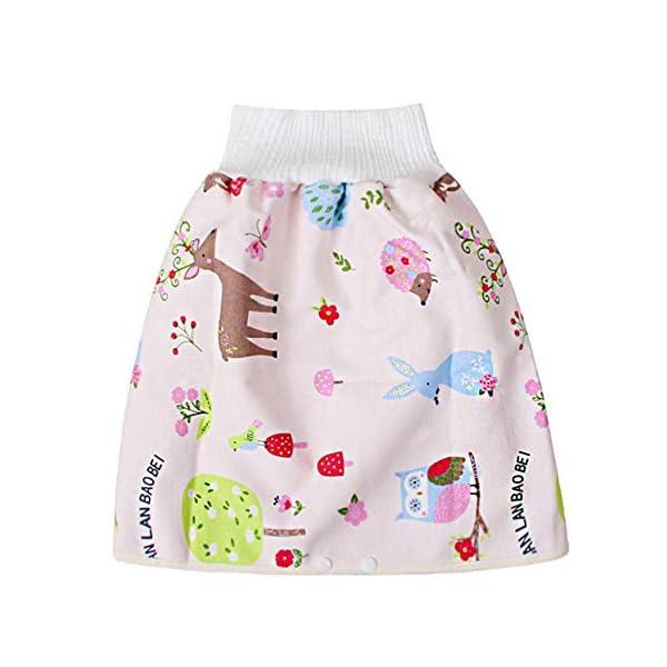 Teekit Comfy Childrens Diaper Skirt - Pantaloncini impermeabili e assorbenti per bambini 1