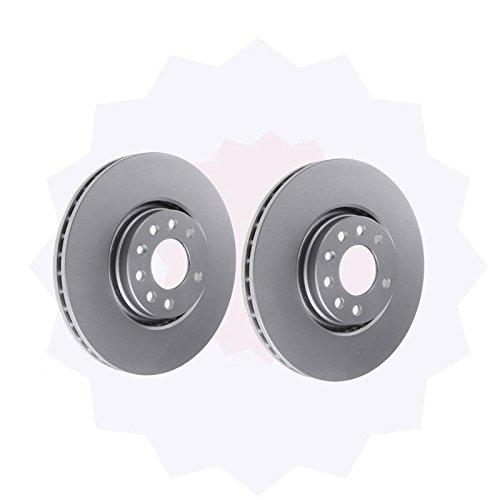 Online Automotive DISC1360S Premium Pair of Front Vented Brake Discs: