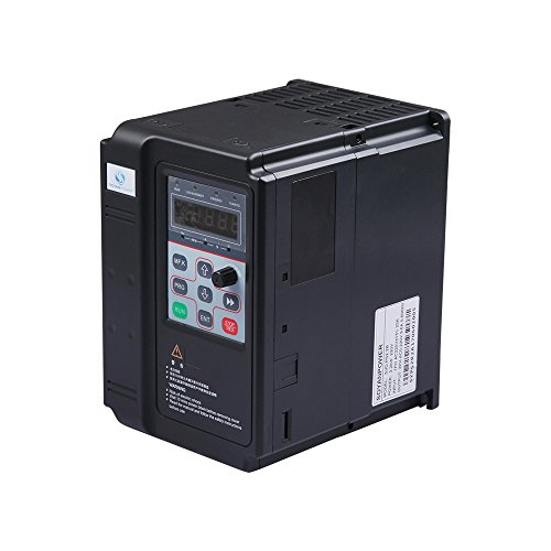 LAPOND SVD-PS Series VFD Inverter VFD Drive 2.2KW 220V 3HP 9.6A,Variable Frequency Drive for Motor Speed Control (1ph Ac Motor)