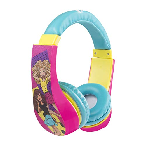 Barbie 30359 Kid Safe Over the Ear Headphone w/ Volume Limiter, Styles May Vary by Sakar