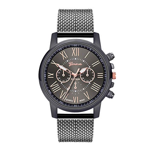 Orcbee  _Luxury Watches Quartz Watch Stainless Steel Dial Casual Bracele Watch (Black)