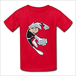00e18878230af Amazon.com: Danny Phantom Logo Kids Boys and Girls T-Shirt Red Size ...