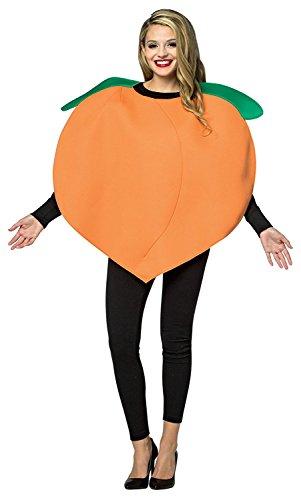 Peach Adult Costumes (Womens Georgia Peach Life Sized Emoji Adult Costume Halloween Party)