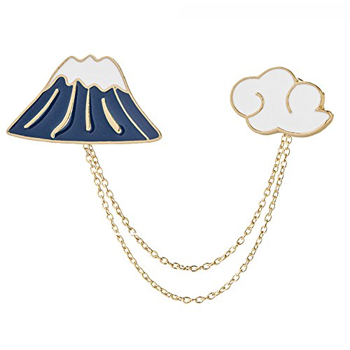 kingfishertrade-ltd Fashion Cartoon Enamel Brooch Pins Set for Unisex Child Women's Clothing Decorate (Mountain & Clouds) ()