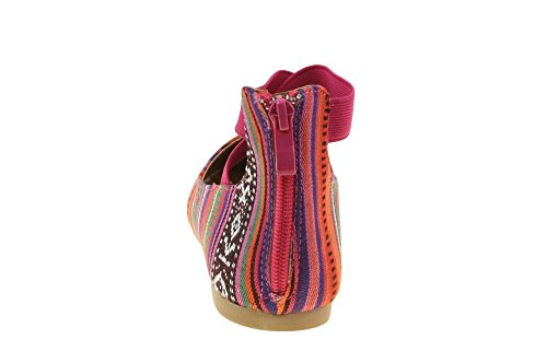 ANNA Mädchen Kinder Kleid Ballett Flache Elastische Knöchelriemen Faux Wildleder Schuhe Multi