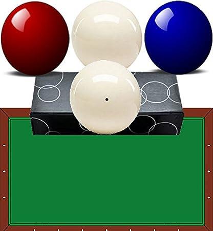 bilie-biglie Billar Carambola (mesa sin buche) oah diámetro mm.61,5 Quattro Bilie Nei colores azul, rojo y dos blancas: Amazon.es: Deportes y aire libre