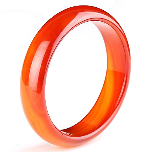 Auspicious Cloud Natural Agate Red Jade Bangle Bracelet for womens (Large Size(62-63)) ()