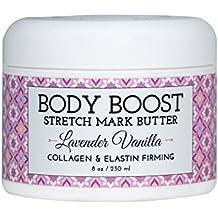 Body Boost Lavender Vanilla Stretch Mark Butter 8 oz.- Pregnancy and Nursing Safe Skin Care