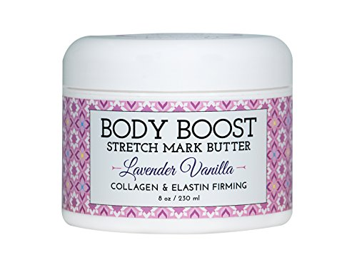 Body Boost Lavender Vanilla Stretch Mark Butter 8 oz.- Pregnancy and Nursing Safe Skin Care (Best Body Lotion To Prevent Stretch Marks)