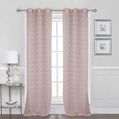 2 Panels Grommet Window Snow Voile Curtains 38
