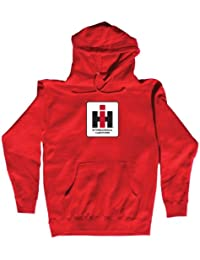 Country Casuals International Harvester Square Logo Men's Hoodie. Red.