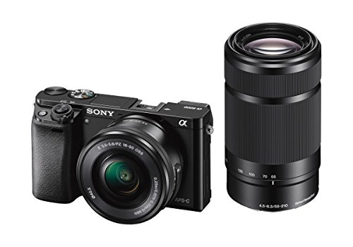 Sony Alpha a6000 Mirrorless Digital Camera w/ 16-50mm and 55-210mm Power Zoom Lenses