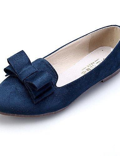 PDX/ Damenschuhe - Ballerinas - Lässig / Kleid - Wildleder - Flacher Absatz - Komfort / Spitzschuh / Geschlossene Zehe -Schwarz / Rosa / , royal blue-us5 / eu35 / uk3 / cn34 , royal blue-us5 / eu35 /