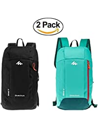2 Pack Decathlon QUECHUA Outdoor Backpack Daypack Mini Small Bookbags10L Unisex for Boys Girls Kids Adults