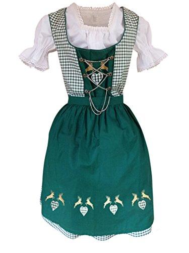 Dirndl-s Di18gw 3pcs. Size 16, Women Oktoberfest drindle-s Dress-ES ()
