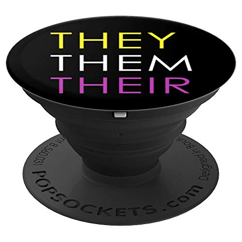 They Pop - They Them Their Gender Pronouns - PopSockets Grip and Stand for Phones and Tablets