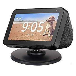 Beuya Echo Show 5 Adjustable Stand & Echo Spot Adjustable Stand, Smart Speaker Echo Magnetic Base (Black)