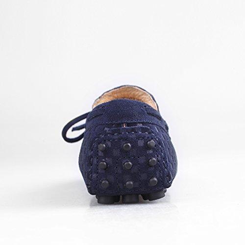 Gå Tur Mens Mockasin Loafers Tillfällig Mocka Driv Skor Komfort Slip-on Tofs Dagdrivare B-mörkblå