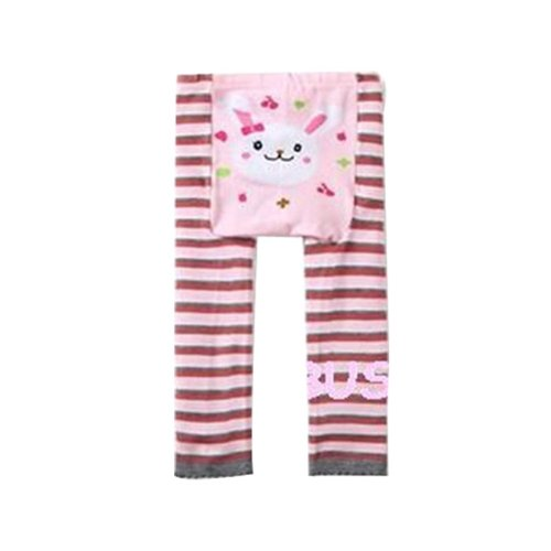 Wrapables Baby & Toddler Leggings, Bunny and Stripes - 24 to 36 Months