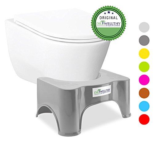 Wc Constipation Gris Tabouret Pour Toilettes Physiologique Contre Marche Hémorroïdes Ergonomique Antidérapant Et Pied De qTH0qwxR