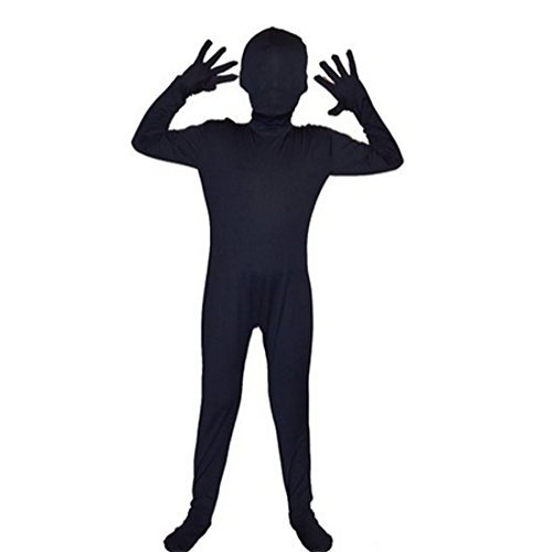 [Partiss Children Halloween Full Body Lycra Spandex Cosplay Costume,X-Large,Navy] (Nightwing Halloween Costumes)
