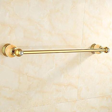 Hlluya Toallero La Joya de Todo el Cobre de Toallas de baño baño de mármol Dorado toallero Racks, Huang Palanca Yu-Single: Amazon.es: Hogar