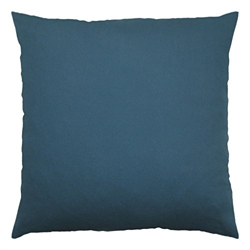 Cotton Throw Pillow Inserts : JinStyles Cotton Canvas Accent Decorative Throw Pillow / Cushion Covers (Solid Teal, Square, 1 ...