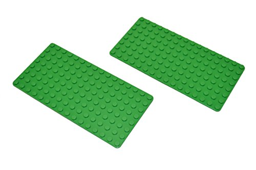 TWO Green Lego Baseplates 16
