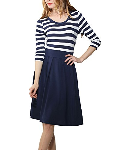 YOGLY Damen Kleid Mode Elegant Knielang Langarm Abendkleid ...