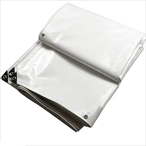 QYJPb Plane UV-Plane Regendichtstoff Wasserdichter Sonnenschutz PVC-Tuch Parkhaus Tuch Weiß - Planen (größe   5x6m)
