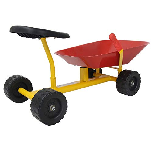"""Red 8"""" Heavy-duty sand dumper with 4 Wheels Toy & Hobbies Outdoor & Structures Sand & Water Sandbox Toys and Sandboxes Home Games Play Vehicles Trucks & Construction Vehicles Formatting hobby from Lek Store"""
