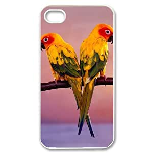 Hard Shell Case Of Parrot Customized Bumper Plastic case For Iphone 4/4s