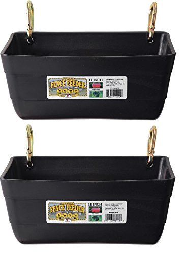 Giant Little Wire ((2 Pack) Little Giant Fence Feeders with Clips, 11-Inch, Black)