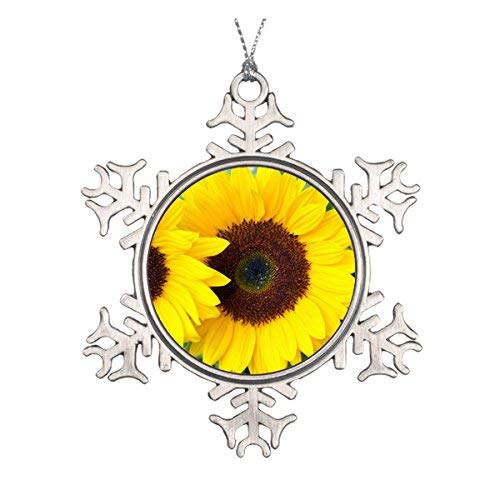 OneMtoss Christmas Snowflake Ornament Beautiful Sunflower Christmas Ornament