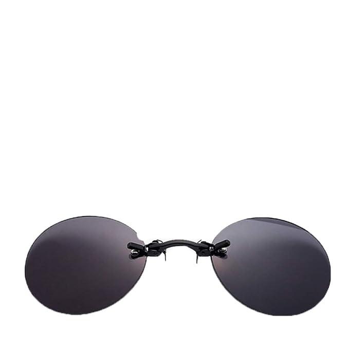 Amazon.com: Mini gafas de sol redondas con clip para la ...