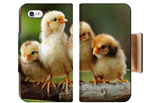 MSD Apple iPhone 8 Flip Pu Wallet Case Group Portrait of Cute Chicks Image 15252574 Customized Tablemats Stain Resistance ()