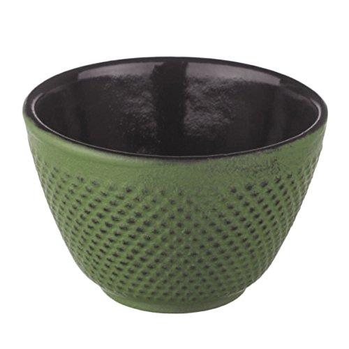 (New Star International T7026 Cast Iron Tea Cup, 4-Ounce, Green Hobnail)