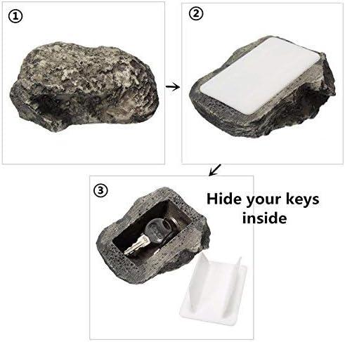 NEUE Key Box Rock Versteckte Verstecken In Stein Sicherheit Sichere Lagerung Versteckt Garten Dauerhafte Qualit/ät