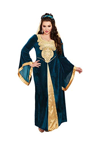 Dreamgirl Women's Plus Size Medieval Maiden, Costume, 1X
