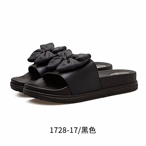 LIUXINDA-XZ Nuevos Productos de Moda española Verano High Heels, Zapatillas Coole modische Calzado Damas, Zapatillas, Muffins, Toallas y Bug el Calzado. Negro.