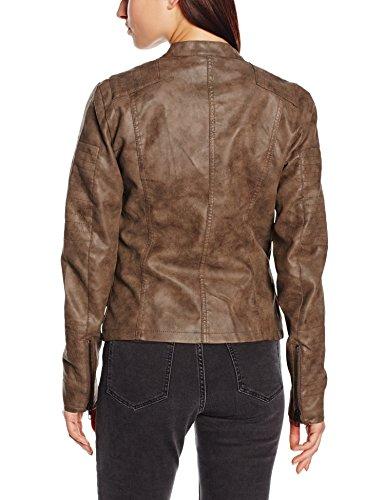 Only Biker Faux Femme Blouson OTW Onlava Gris Noos Falcon Leather rqF7wr5t