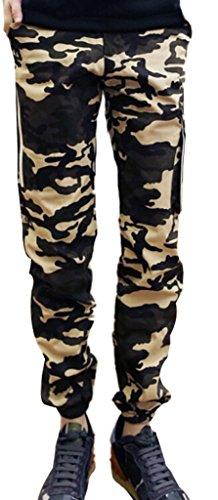 NQ Men's Hip hop pants Camouflage Cargo Military Long Cargo Pants 2XL Yellow