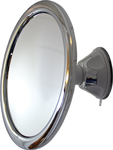 Fog Free Shower Mirror by Mirror On A Rope With Locking Suction Mount and Ball Joint Swivel (1X)