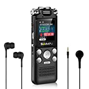 #AmazonGiveaways Voice Recorder-16GB Voice Activated Recorder with Variable Speed Playback,Sound Recorder Built in Ultra-sensitive Microphones and MP3 Player,Digital Voice Recorder for Lectures and Meetings
